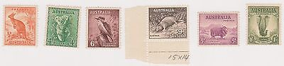 (K26-57) 1937 AU 6stamps Zoological series 1/2d to 1/- MUH (B)