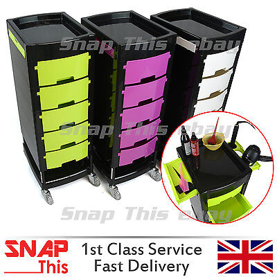 Salon Hairdresser Drawers Beauty Storage Trolley Colouring Hair Roller Spa Cart