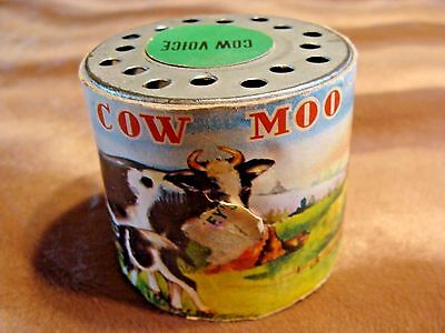 Vintage Cow Moo Toy Voice Shake Cows In Meadow With Windmill Collectible