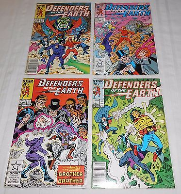 Star Comics Defenders of the Earth #1, 2, 3 & 4 (1987) comic books