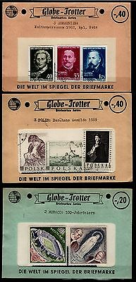 Missellaneous, rare vintage stamp packets, Globe Trotter Stamps