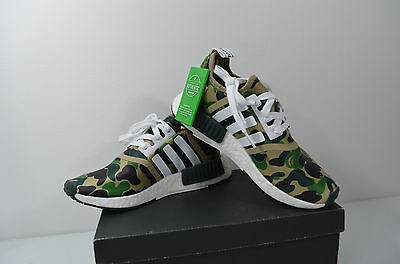 timeless design 45951 34017 ADIDAS NMD R1 Bape / Olive Camo / BA7326 / Size - 5 / Authenticated -  Limited