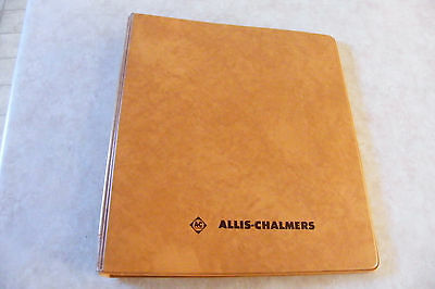 Vintage AC Allis-Chalmers Faux Leather 3 Ring Binder S.K. SMITH CO