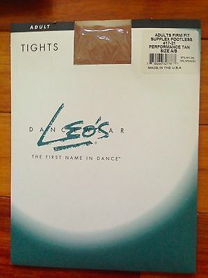 Leo's Footless Tights - 417-21 Tan - Adult Sizes A/B or C/D NEW