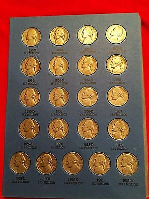 1938-61 Complete Jefferson Nickel Set (61 coins)  In Whitman Album