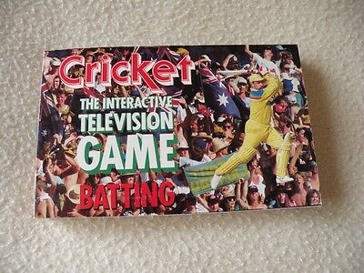 Cricket Interactive TV Game - Batting Card Booklet Replacement/Spare Part ONLY