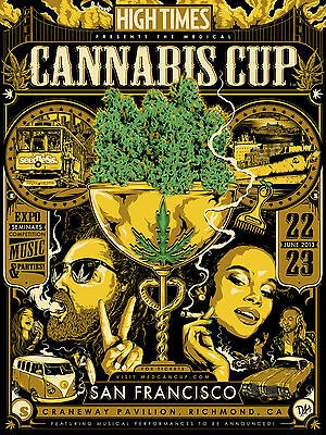 High Times NorCal Cannabis Cup 2013 Dane Holmquist Limited Edition Poster Print