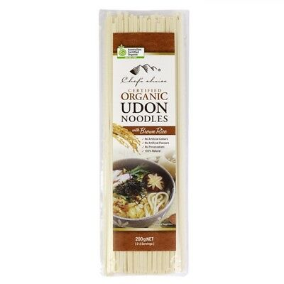 Chef's Choice Organic Udon Noodle with Brown Rice 200g