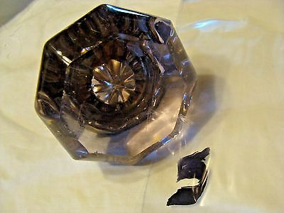 #5 Antique Vintage 8 Point Octagonal Amethyst Star Glass Door Knob Steampunk