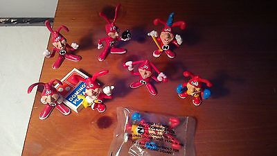 """Domino's Pizza Vintage 1987/88 """"Avoid the Noid"""" Figurines Set of ALL 7  """"Sealed"""""""
