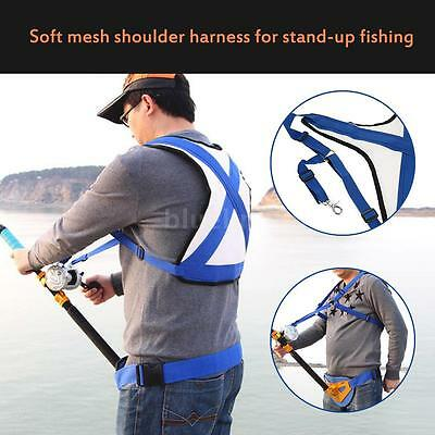 Boat Fishing Fighting Belt Rod Holder Adjust Fishing Fishing Harness Vest I2C2