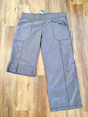 Pumpkin Patch Xl/sz 16/18 Maternity Cargos With Roll Up Leg  In Chocolate