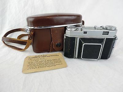 Vtg 1950's Kodak Retina IIa 35mm Rangefinder Film Camera & Case Schneider 50mm