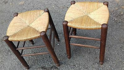 A Pair Of Vintage French Country/rustic Stools Very Nice And Solid