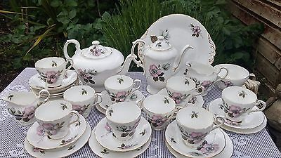Paragon China By Appointment Majesty the Queen Pompadour Tea & Coffee set