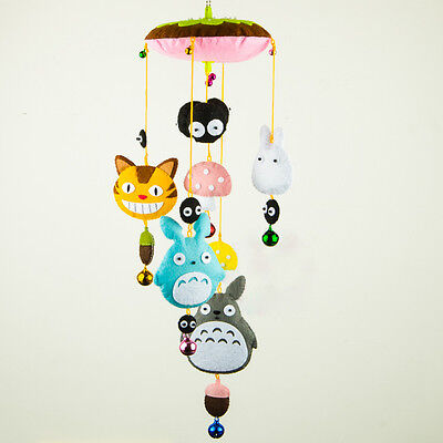 My Neighbor Totoro Hanging Baby Mobile Nursery Crib Decor Windbell DIY Materials