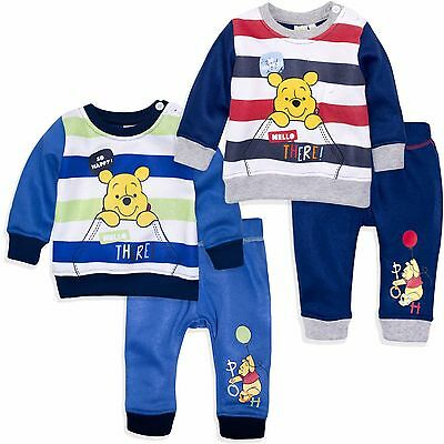 Disney Winnie The Pooh Baby Boys Outfit Set Jumper Top Trousers 3-24 Months