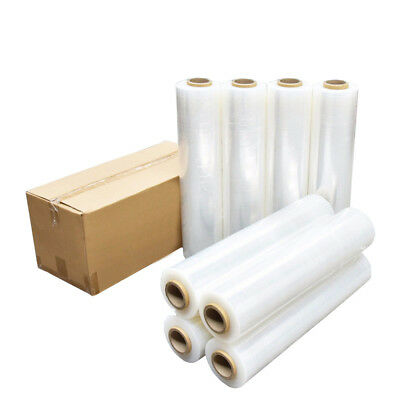 1/2/3/4 Rolls 500mm 400m 25µM Stretch Film Pallet Wrap Carton Shrink-Clear/Black