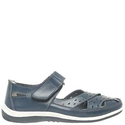 Comfort Me Broadway Womens Leather Everyday Shoe - Navy