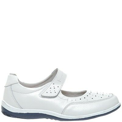 Comfort Me Barbra Womens Leather Everyday Shoe - White
