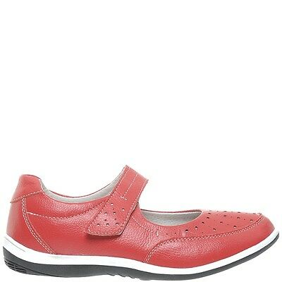 Comfort Me Barbra Womens Leather Everyday Shoe - Red