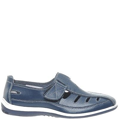 Comfort Me Keive Womens Leather Everyday Shoe - Navy
