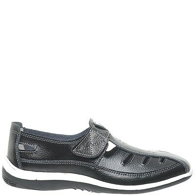 Comfort Me Keive Womens Leather Everyday Shoe - Black