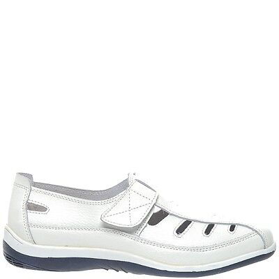 Comfort Me Keive Womens Leather Everyday Shoe - White