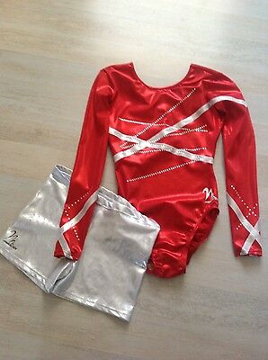 Milano leotard, 36, worn once, with shorts. Reduced!!!