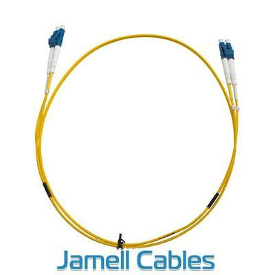 LC-LC OS1 Single Mode Duplex LSZH Fibre Patch Lead 1m