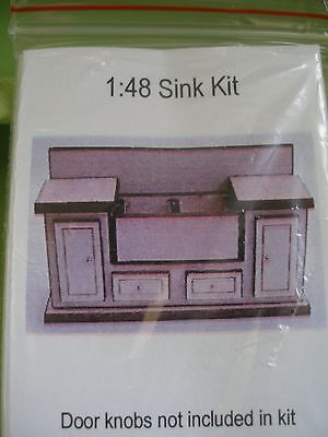 Dollhouse Miniature Tiny Kitchen Sink Kit 1:48 Scale- Suit Doll Or Fairy House