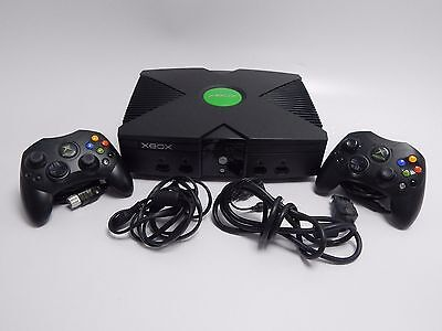 Microsoft Xbox Console w/ 2x Controller's  TESTED & WORKING Canadian Seller