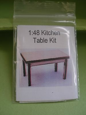 Dollhouse Miniature Kitchen Table Kit 1:48 Scale- Townhouse Or Fairy House