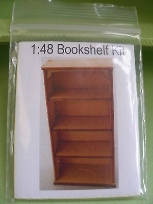 Dollhouse Miniature Bookcase Kit 1:48 Scale- Townhouse Or Fairy House