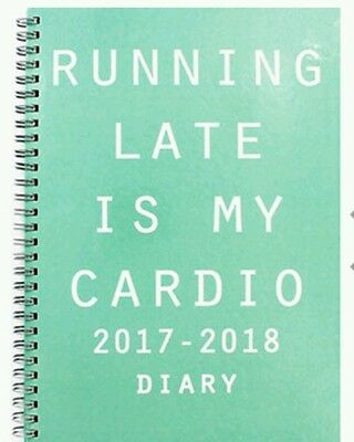 2017-2018 Academic diary mid year B5 Size Week to View . spiral wiro ring bound