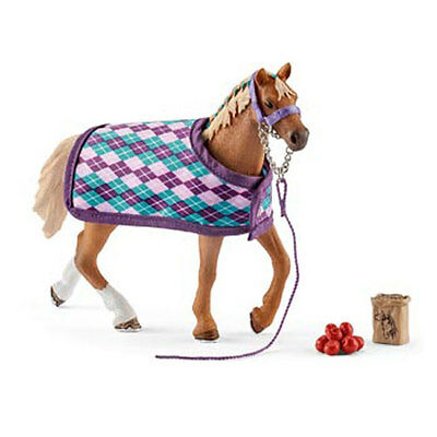 Schleich – English Thoroughbred with Blanket * Horse Toy Figure NEW # 42360