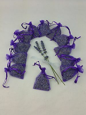 Lavender Bags x 12 Aromatic Purple Organza Bags