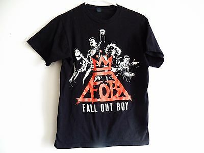 FALL OUT BOY 2014 Monumen Tour Black Small Rock Concert T-Shirt FOB