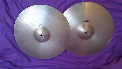 """PAIR Vintage Paiste 101 14"""" hihat cymbals  Made in Germany 70/80's vgc"""