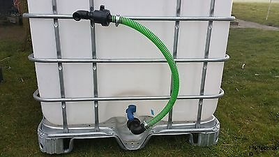 Fill hose Outlet help Drain cock DN 50 S 60 x 6 for IBC Container