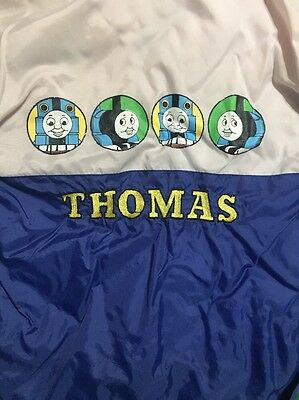 Youth Thomas The Tank Engine Blue/pink Hooded Rain Pullover Size 7