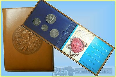 Austria Proof Set of 4 Silver Coins 1965
