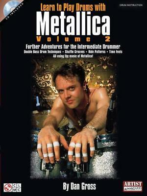 Learn To Play Drums Metallica Book & Cd Vol 2