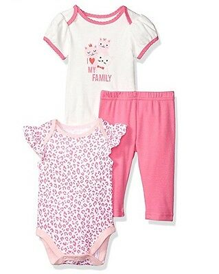 NWT The Children's Place Baby Girl 3-piece Playwear Set Size:0-3 Month Newborn