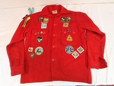 Boy Scouts vintage 1960's jacket with 1960's patches Camp BSA