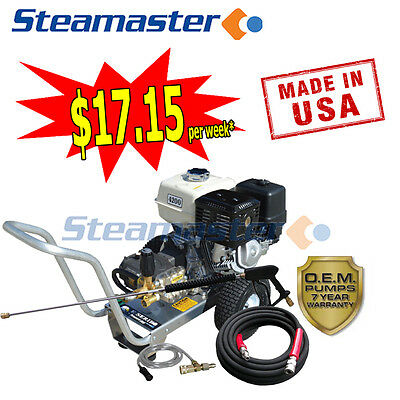 Industrial High Pressure Water Cleaners Washer Petrol E/start 1528 4200Psi 15Lpm