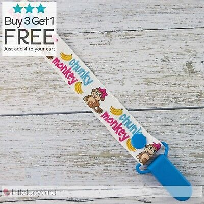 Chunky Monkey Dummy Clip - Pacifier Clips - Soother Chain (DC100390)