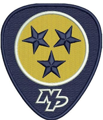 "Nashville Predators Patch -Guitar Pick  2017 Stanley Cup Final 5.5"" Jersey Style"