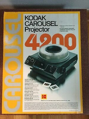 Kodak Carousel Slide Projector 4200 With A C Lens 102 To 152mm & 10 Extra Slide