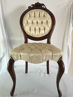 Antique  Victorian Rosewood Parlor Chair